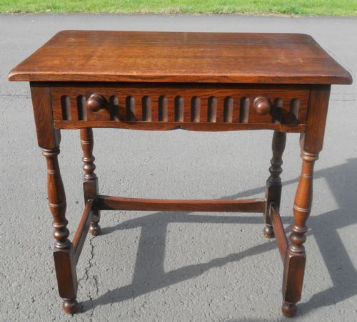 Reproduction Carved Oak Side Table
